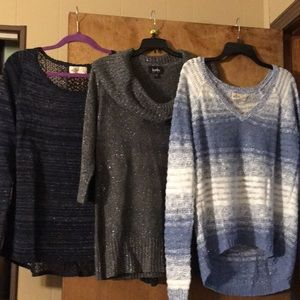 3 sweater lot Hollister & By&by